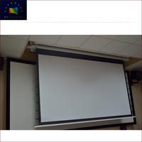 4K Home Theater Imported Top End Fashional Soft Matte White Motorized In-Ceiling Projection Screen Fabric HCL1-WF1 Pro Max4K