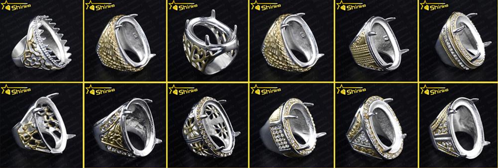 2014 Wholesale Indonesia Rings Hot Sell Gemstone Titanium ...