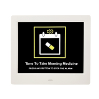 Digital digit calendar mini twin bell alarm day clock for Memo Loss People