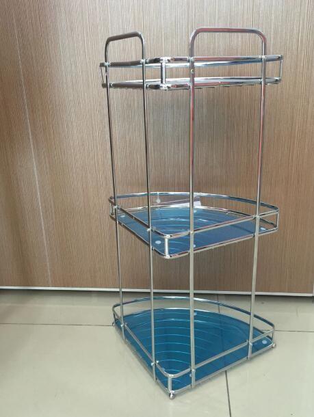 New Style Shower Room Display Shelf Metal Shower Corner Shelf