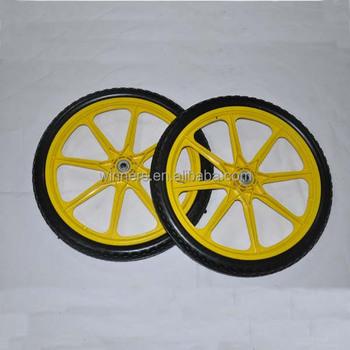 PU Foam Garden Cart Wheels/plastic Bicycle Wheel 20 Inch