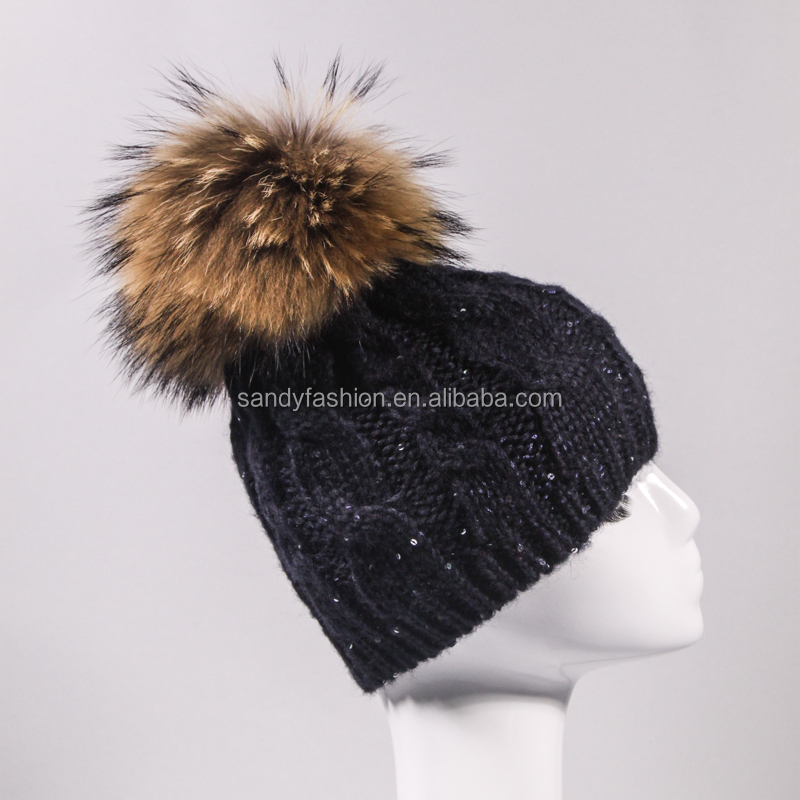 Winter New Arrival Unisex Iceland Yarn Jacquard Knitting Hat With Pom Pom