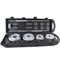 Gym Dumbbell Weight Lifting Used Electroplating Chrome Cast Iron Barbell Dumbbell Set