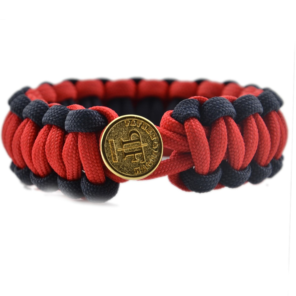2016 new camping high quality cheap tactical gear 550 paracord survival bracelet with golden button clip