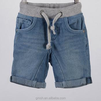 6509732ff5b Infant baby boy denim shorts rib waist jean shorts fashion jean pants shorts  with drawn cord