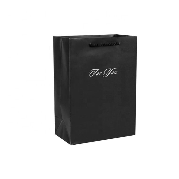 Wholesale Customized Small Black Gift Merchandise Shopping