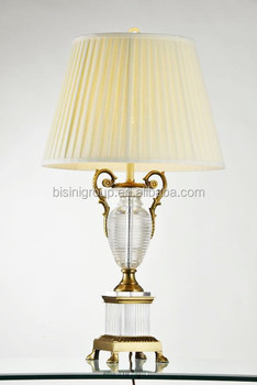 Traditional elegant antique solid crystal brass table - Elegant table lamps for living room ...