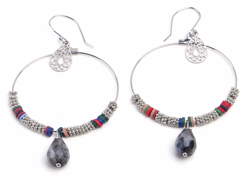 2016 Pretty Bohemian Jewelry Crystal Beadsr hoop Earrings