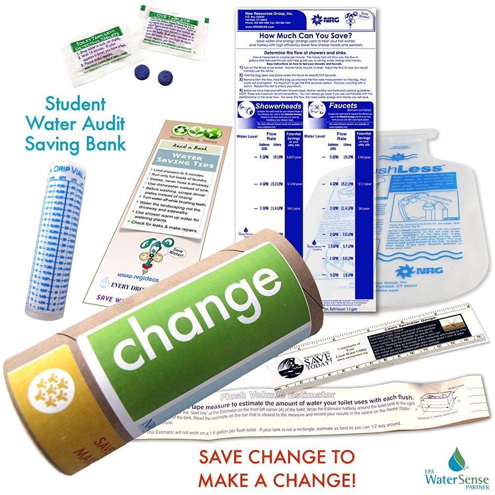Student Water Audit Water Bank Saving Eco-kit| Change | Bank on Savings! Water Conservation Ideas.