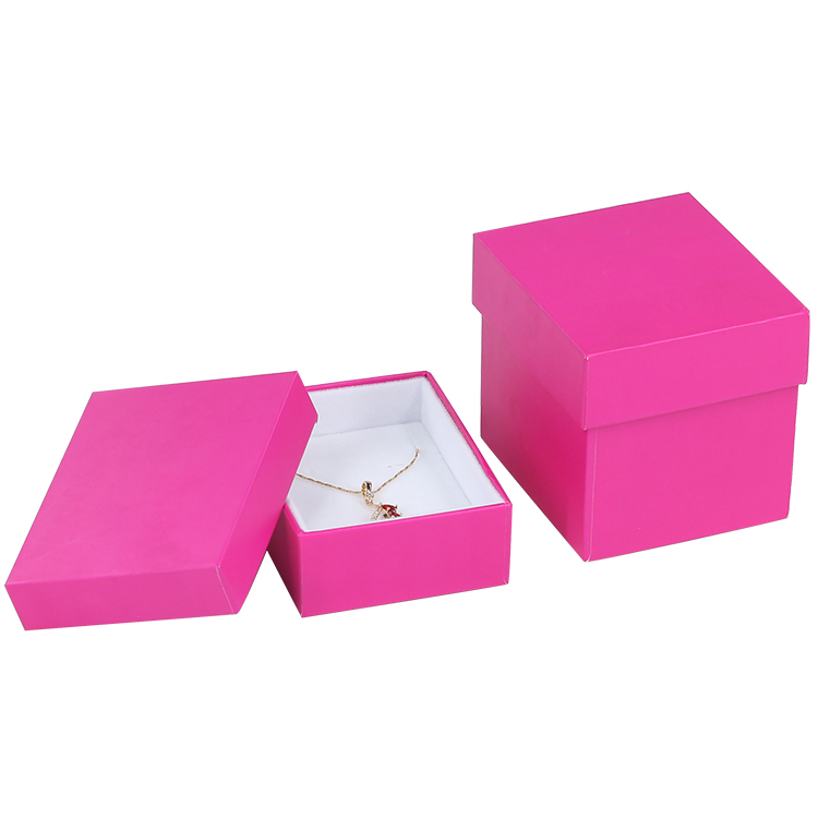 Custom logo red base and lid free sample packaging paper gift box for jewelry bracelet