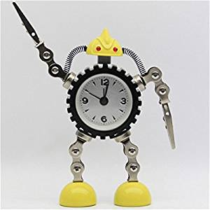 Deformation Robot Alarm Clock Creative Mute Clock Message Clip Home Decor Clock Toy Gift