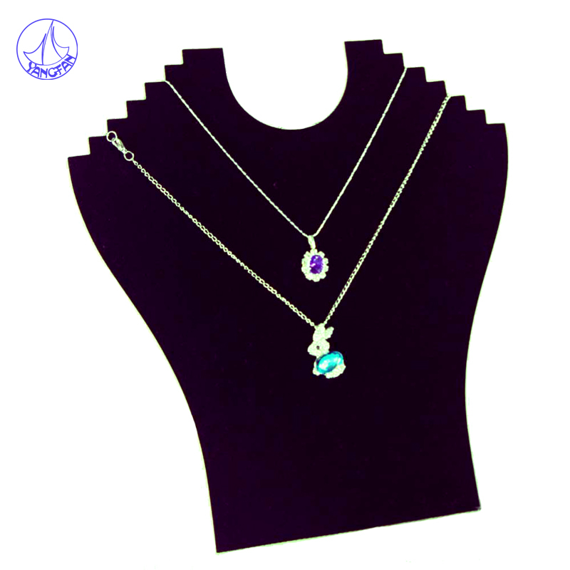 2015 Wholesale Hight Quality 1pcs New Black Velvet Necklace Jewelry Pendant Jewelry Display Stand JD#288