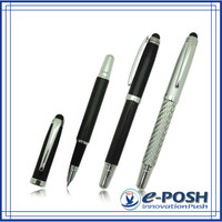 Luxury advertising carbon fiber fountain pen with stylus
