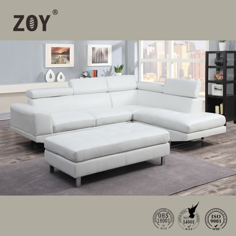 Zoy Modern Corner Sofa Set Designs For Drawing Room Leather Price 9832