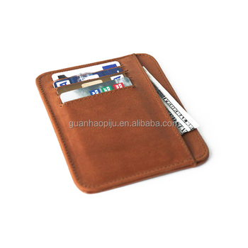 Slim Genuine Leather Business Card Holder For Men