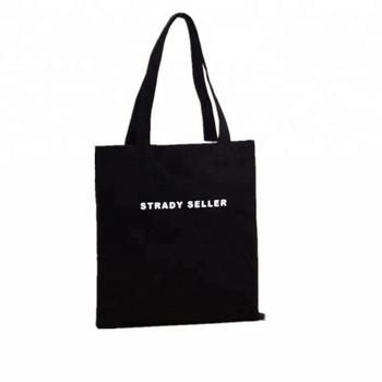 Custom Korean Black Canvas Tote Bag With Shoulder - Buy Black Canvas ... 9ddc1b2605de