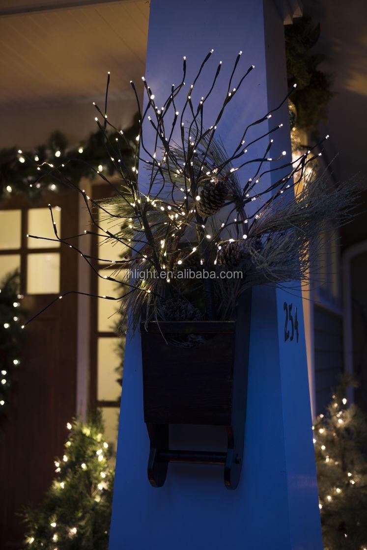 batterijzonne energie tiny kerst takken lichten warm wit led winter verlichting indoor outdoor