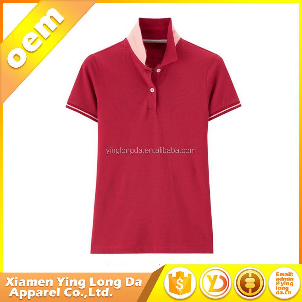 Bottom Price Unique Polo Shirt Design For Women 95 Cotton 5