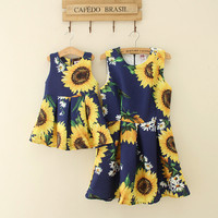 2017 mother and daughter matching dresses summer follwer childrens dress