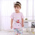 2019 summer boutique cute kitty 100% cotton baby girl clothing sets