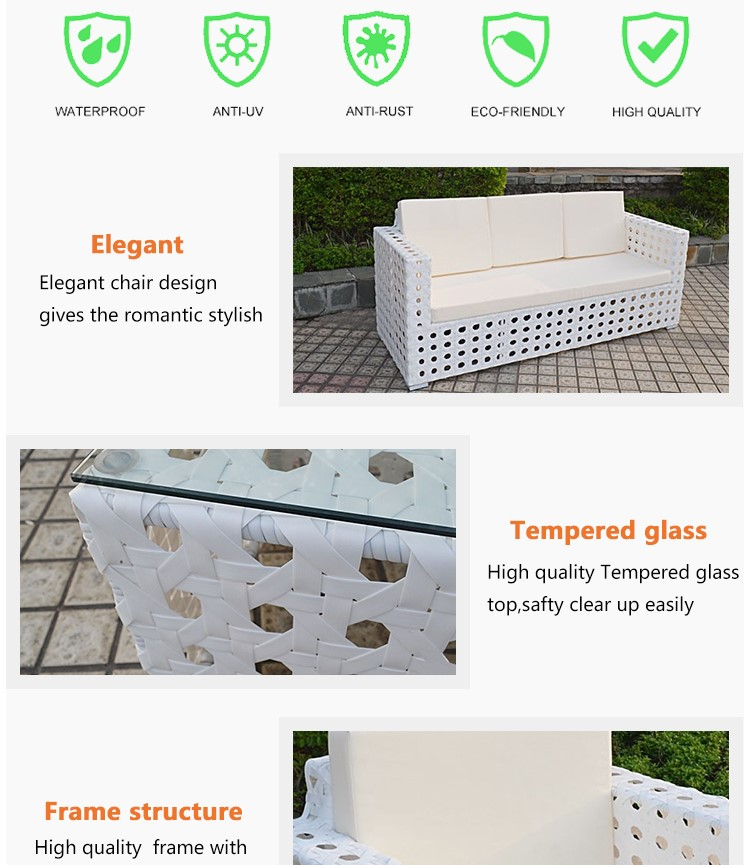 Allibaba com Wicker White Outdoor Sofa Sets For Villa French Style Living Room High End Rattan Furniture