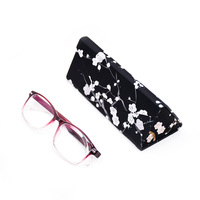 High End New Product Foldable Triangle Handmade Optical Glasses Case