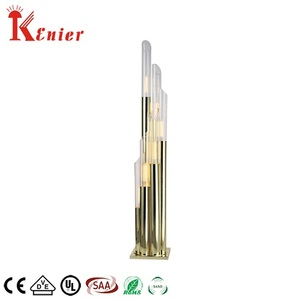 Hotel Fancy Modern Luxury Large Standing Gold Glass Floor Lamp
