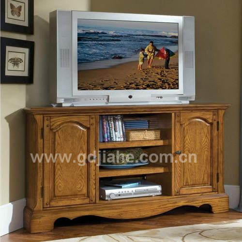 2014 Led Lcd Plasma 40 Inch Tv Stands Double Glass Doors Wooden Tv