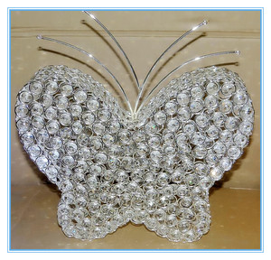 Large butterfly Shape crystal beaded Centerpiece For wedding Decoration