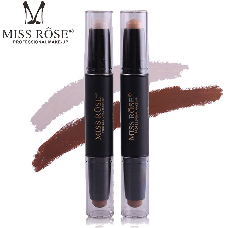 MISS ROSE Professional Waterproof Women Make Up Contour & Hi-light Stick 2 IN 1 Long-lasting Whitening Concealer Lighter