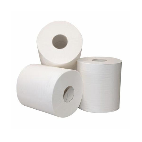Premium Ultra soft & Absorberende Virgin 1Ply 800ft Commerciële Badkamer Hardwound Papierrol Handdoek