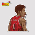 Bevle 9360 NBA Bastetball Super Star Derrick Rose Waterproof Stickers Laptop Luggage Fridge Car Graffiti Cartoon