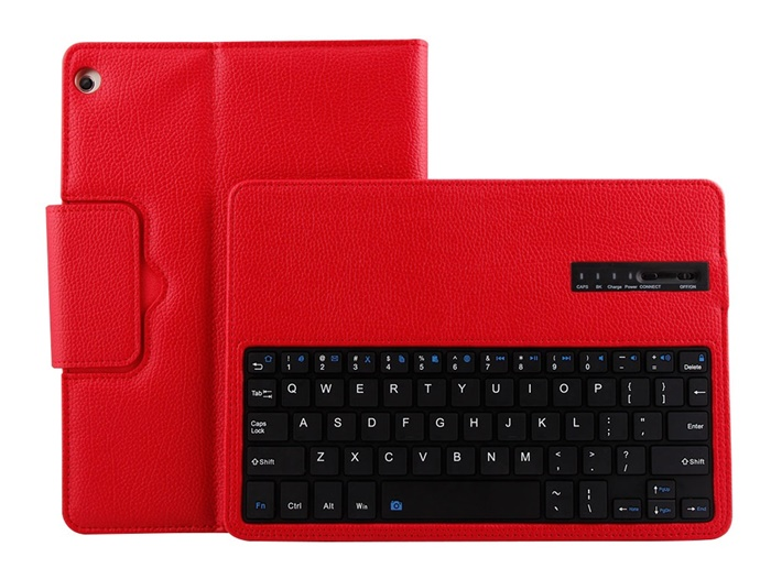 Sleep function litchi texture wireless keyboard for huawei M3 10.1inch