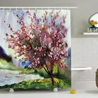 Model Fancy Photo Printing Polyester Shower Curtain