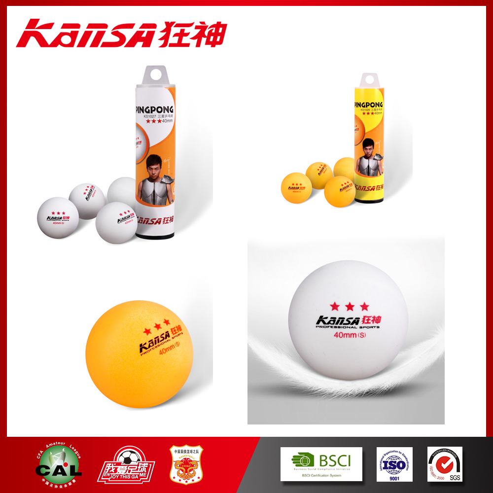 Kansa -1027 Hot Selling Colorful With Logo Printed High Quality Ping Pong Ball
