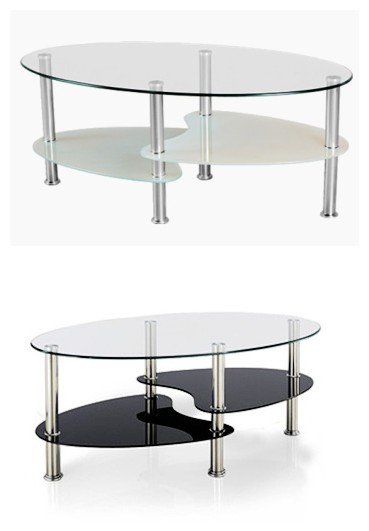 de forme ovale en verre tremp table basse ikea tables en verre id de produit 500004994133. Black Bedroom Furniture Sets. Home Design Ideas