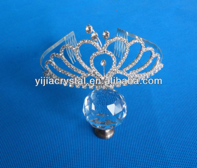 elegant tiaras cheap wedding crystal glass pageant queen crown