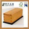 Wholesales Eco-friendly unfinished handcrafted sliding lid red oak wood pencil box for kids