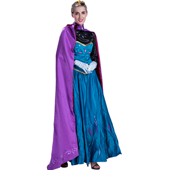 Adult Women Anna Princess Dress Costumes For Cosplay Party Frozen