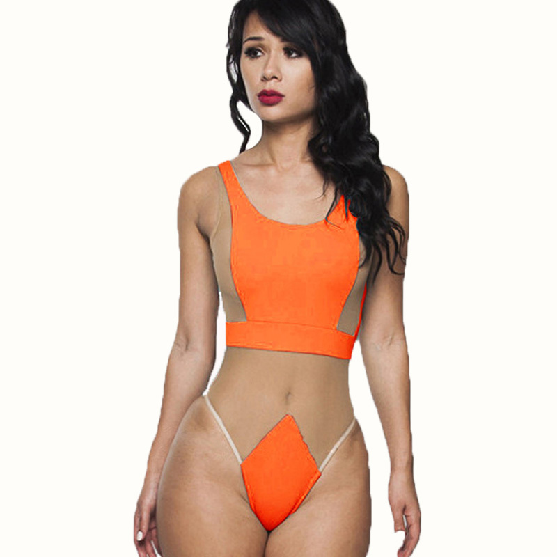 557f6bf29751e Get Quotations · Black Mesh Swimsuit One Piece Swimsuit Swimming Suit For Women  Mesh Bathing Suit Sexy One Piece
