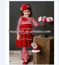 exports of clothing China kids clothing set top and pants cotton outfit toddler red cotton clothes set girls wedding cloth