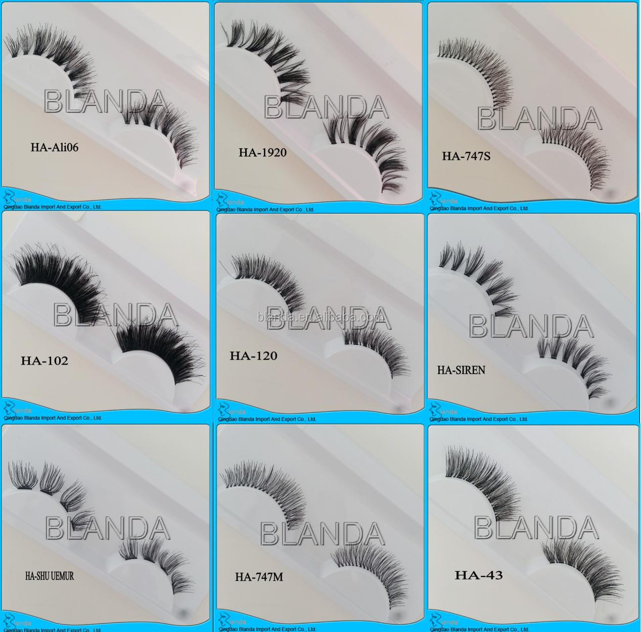 High Quality Private Label OEM Service Human Hair Eyelashes