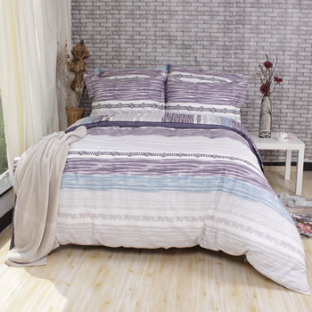 Time River printed peaceful 100% cotton single bed sheets