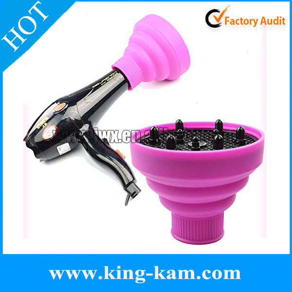 manufacturer custom silicone folding hair dryer diffuser mini hair dryer with diffuser Silicone Curly Hair Blow Dryer Diffuser