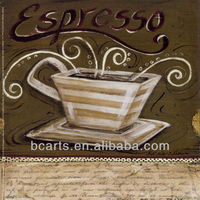 BC13-5089 high quality handmade oil paintings on canvas oil painting coffee