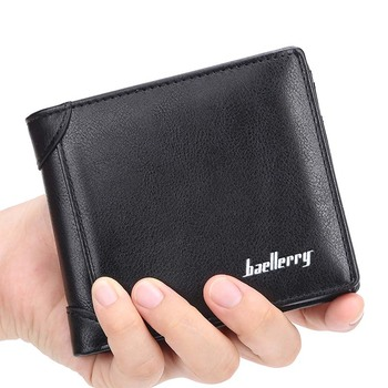 Baellerry 2019 New Antique PU Leather Short Wallet For Men,Male Vertical Coin Purse