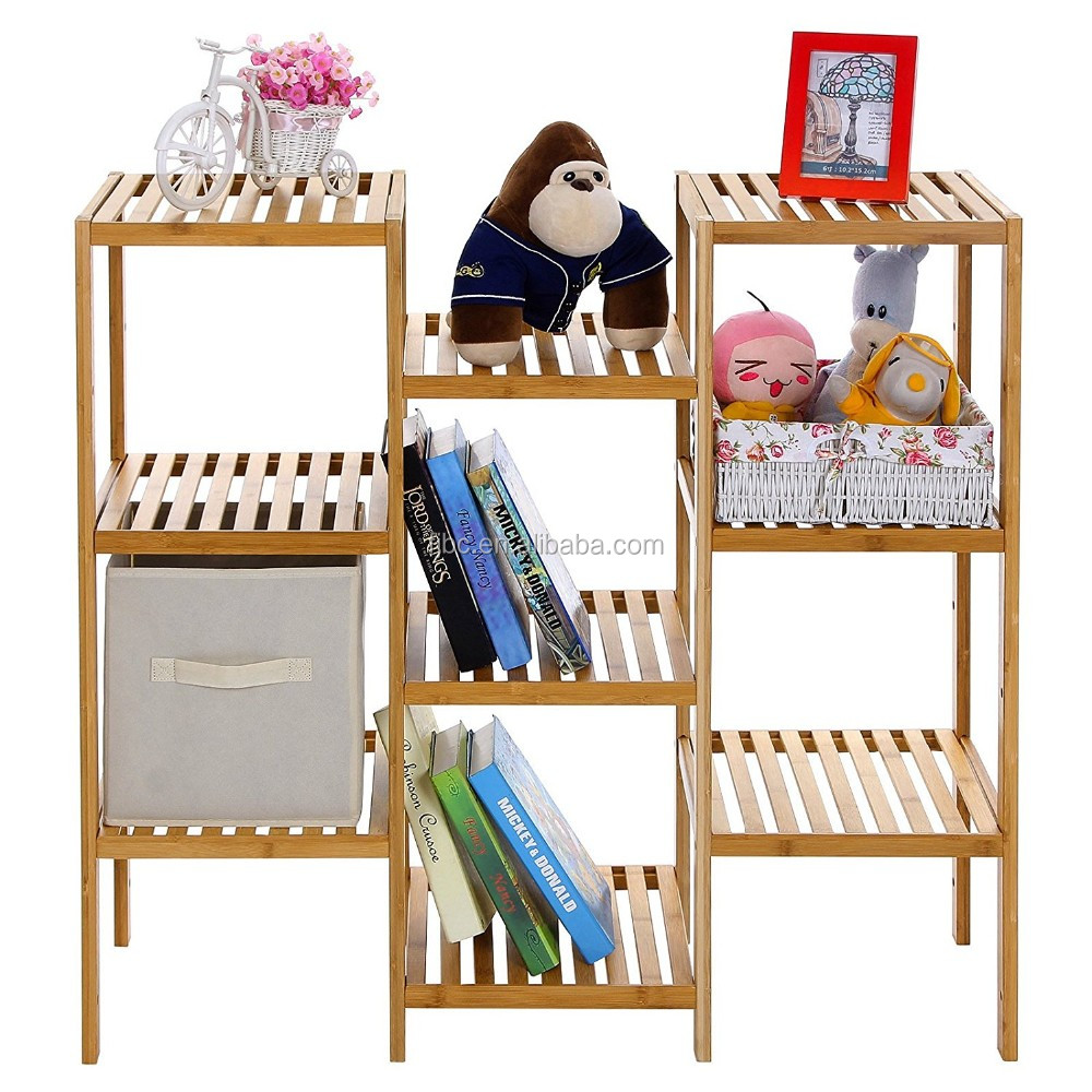 New 3-Tier Bamboo Bathroom Towel Tower Rack Shelf for Organizer Furniture
