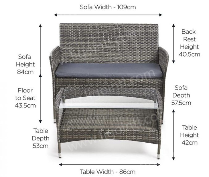 Import latest waterproof cast aluminum bamboo hilton leisure outdoor plastic rattan garden furniture