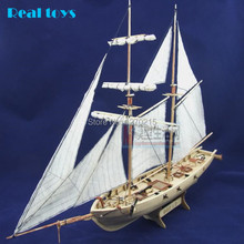 Free shipping Assembly Model kits Classical wooden sailing boat model Halcon1840 scale wooden model