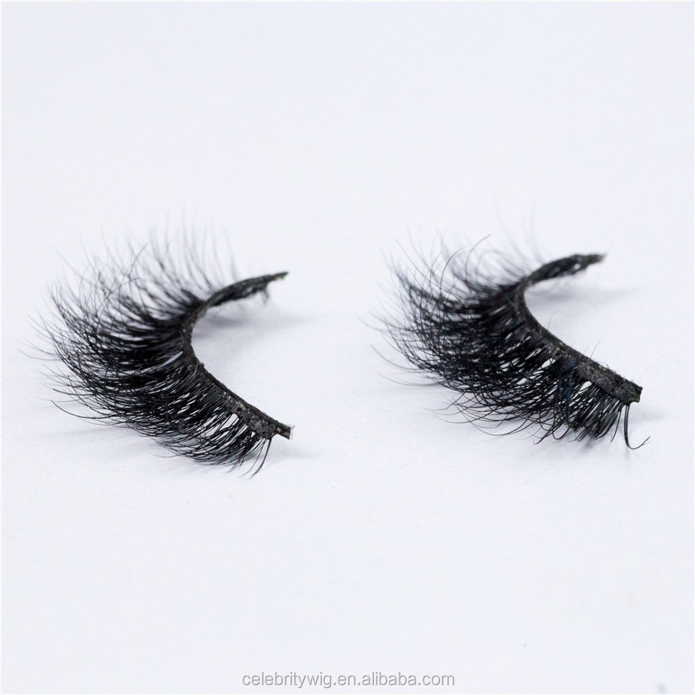 Instock Mink Fur Fale Eyelash 3D Mink Eyelash in High Density Can Custom Packing